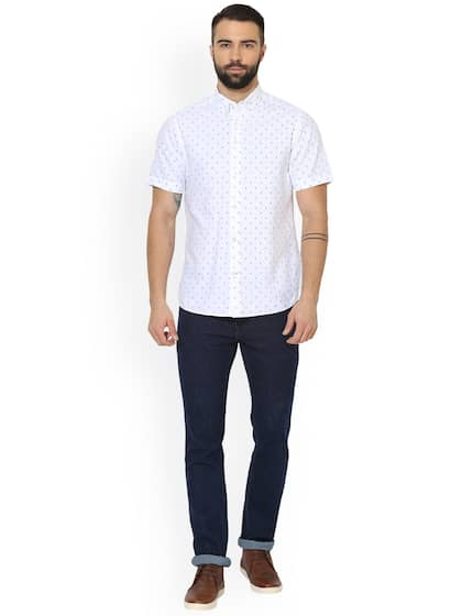 Red Tape Men White Comfort Regular Fit Solid Casual Shirt