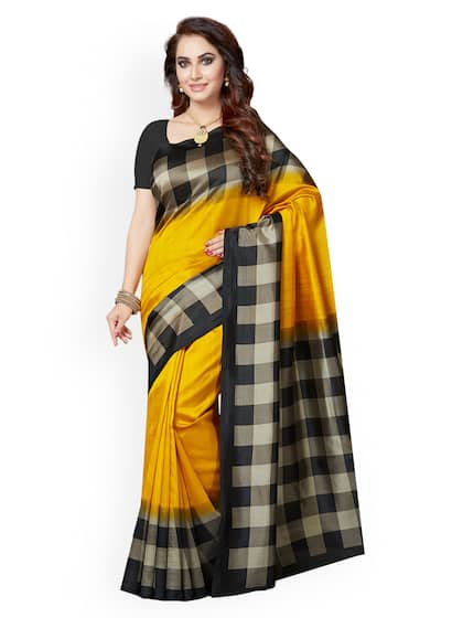 0ab1ddb135 Yellow Saree - Buy Yellow Colour Saree Online | Myntra