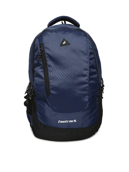 e6eff018add6 Fastrack Unisex Navy Blue Solid Backpack