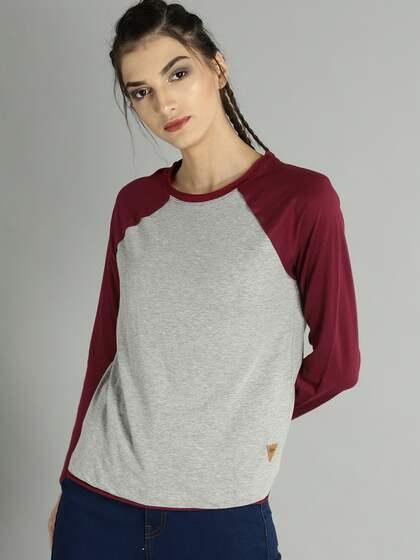 094f59f8 T-Shirts for Women - Buy Stylish Women's T-Shirts Online | Myntra