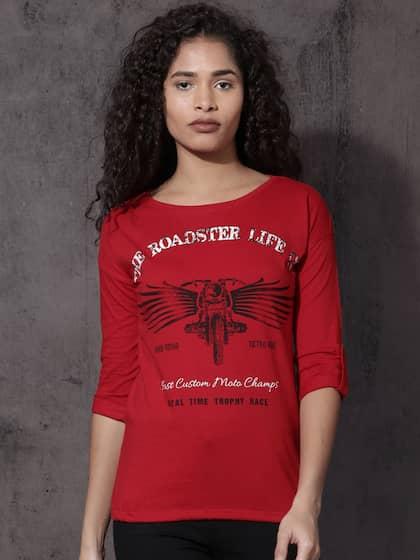 1897339a4 T-Shirts for Women - Buy Stylish Women's T-Shirts Online | Myntra