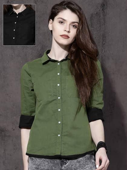 70286085 Women Shirts - Buy Shirts for Women Online in India | Myntra