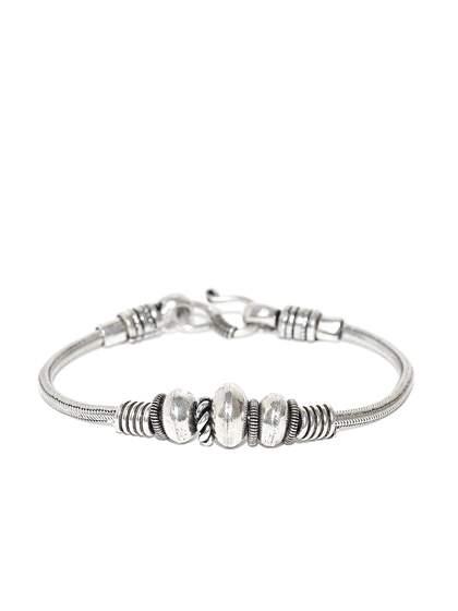 Silver Bracelet Buy Silver Bracelets Online In India Myntra