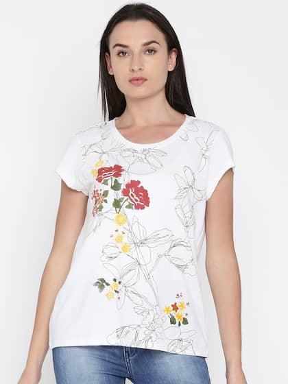 566b4d6bf4 T-Shirts for Women - Buy Stylish Women's T-Shirts Online | Myntra
