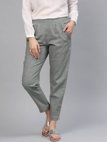 22125b7b2e90 Women s Trousers - Shop Online for Ladies Pants   Trousers in India ...