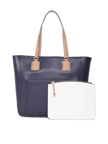 Nine West Navy Blue Solid Shoulder Bag