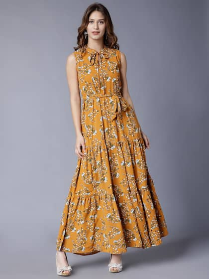 699a64a312c1 Long Dresses - Buy Maxi Dresses for Women Online in India - Upto 70% OFF