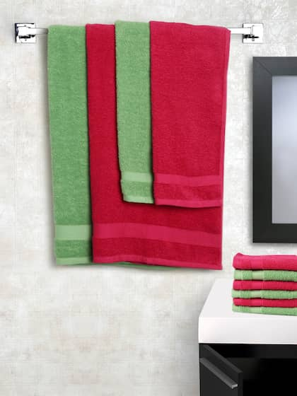 SPACES Set Of 10 Cotton 450 GSM Bath Towels