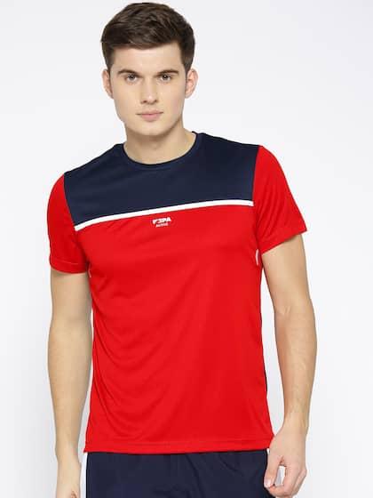 d0df6180 U.S. Polo Assn. Colourblocked Round Neck Red T-shirt