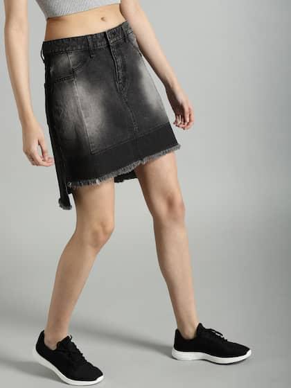 f0e5236d6 Denim Skirts - Buy Denim Skirts for Women Online | Myntra