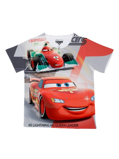 H/&M Brand Boy/'s Tops Lightning Mcqueen Ferrari logo  Long sleeve size 3-8 NEW