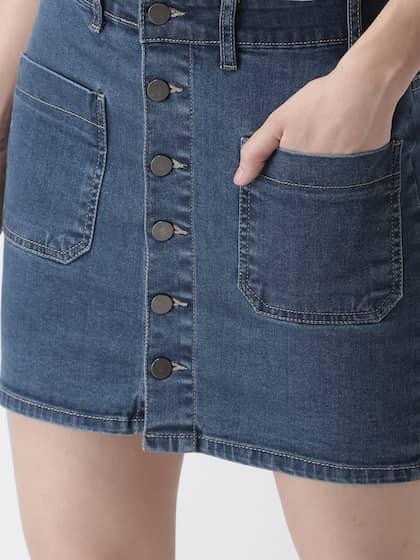 034a9bfd3 Women Denim Skirts - Buy Women Denim Skirts online in India