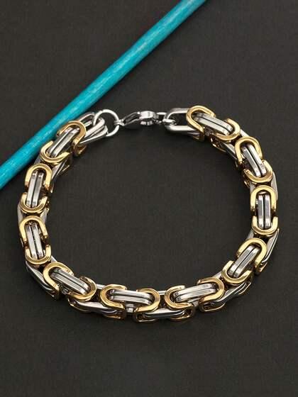 00bbe9198bf Silver Bracelets for Men - Buy Silver Bracelet for Men | Myntra