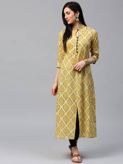 33772fc10a Yellow Kurtas | Buy Yellow Kurtas Online in India