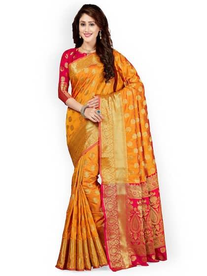 73f14f5d63f13f Banarsi Saree - Authentic Banarsi Sarees Online - Myntra