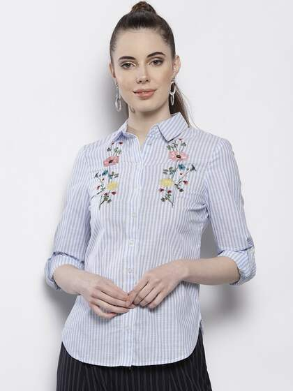 7599f408a Women Shirts - Buy Shirts for Women Online in India   Myntra