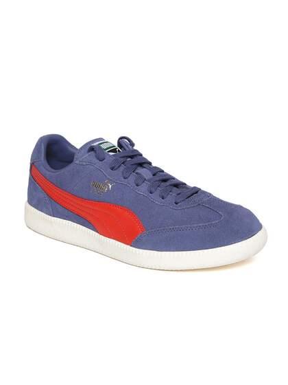 Puma Men Blue Liga Suede Leather Sneakers