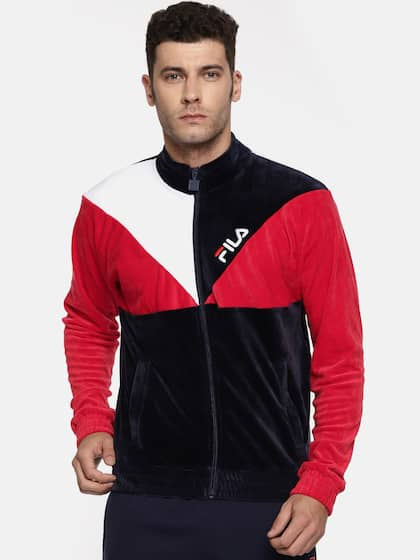 cb3173f381eb FILA. Men Colourblocked Sporty Jacket