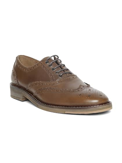 Levis Men Brown Leather Smart Casual Brogues