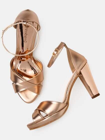 7e5361b985 Peep Toe Heels - Buy Peep Toe Heels Online in India