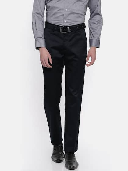 b3e095ba282 Peter England. Men Slim Fit Formal Trousers