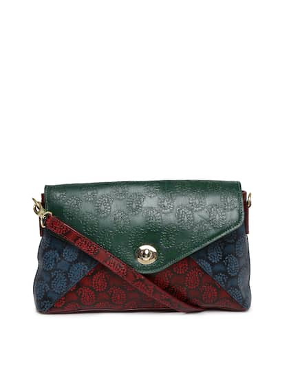 Holii Women Green & Red Colourblocked Shoulder Bag
