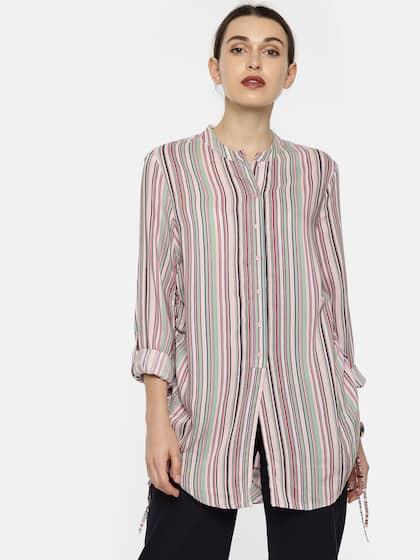 b523231639c72f Vero Moda. Striped Shirt Style Top