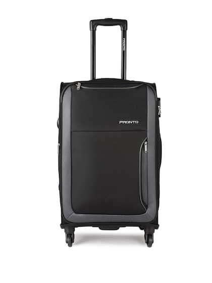 Pronto Unisex Black   Grey Paris 4 W Spinner 78 Large Trolley Bag 19b25e1e9fbe1