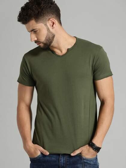 5770aa5d8dcf76 V Neck T-shirt - Buy V Neck T-shirts Online in India