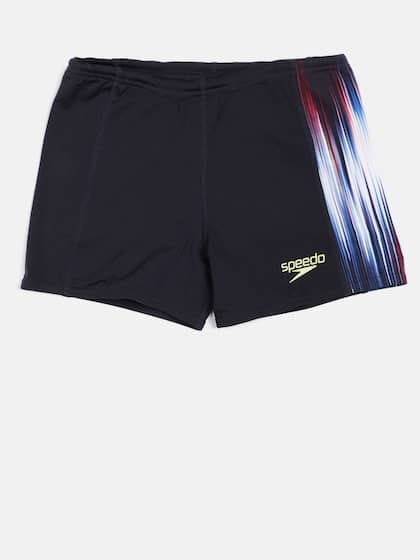 287aebf527 Speedo Men Navy Blue Printed POWERSPRINT PNL ASHT V2 AM Swim Shorts  8045107874