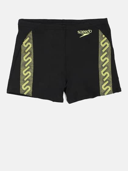 36cee8a5b1 Speedo Men Black Printed Male Monogram Aquashort Swim Shorts 8087428533