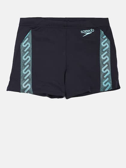 ecf2ae975c Speedo Men Navy Blue Monogram Aquashorts Swim Shorts 808742A324