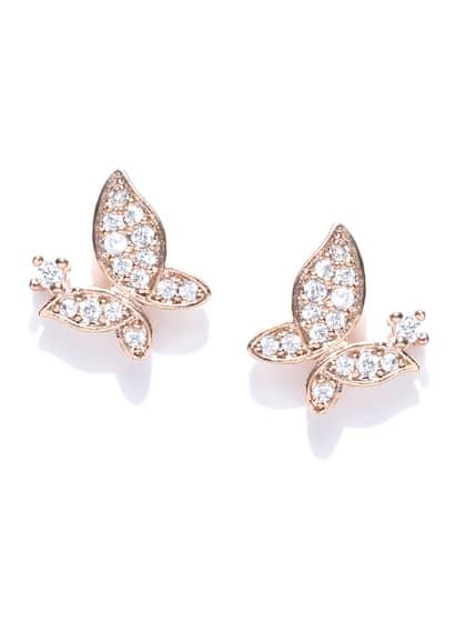 22f8541fa9bb96 Butterfly Earrings - Buy Butterfly Earrings online in India