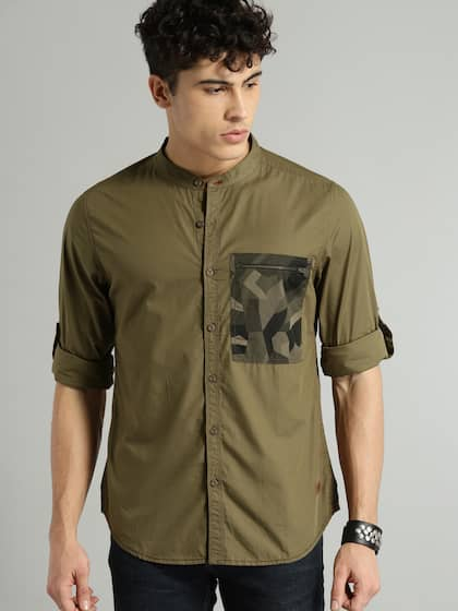 f160d2dbca0 Roadster Olive Green Casual Shirt - Buy Roadster Olive Green Casual ...