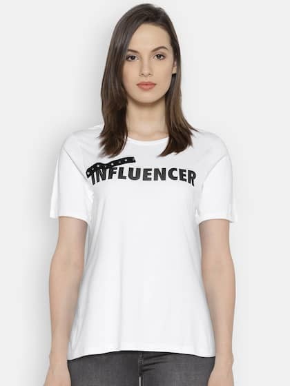20da3e997 T-Shirts for Women - Buy Stylish Women's T-Shirts Online | Myntra