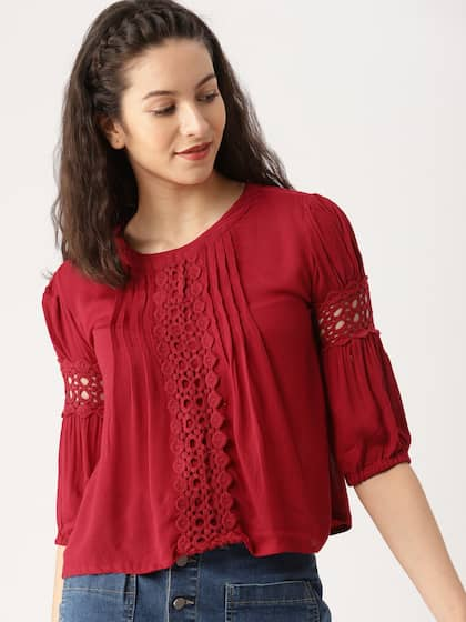32990dc5cf Lace Tops - Buy Lace Tops for Women   Girls Online in India
