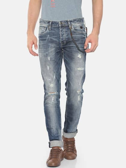 f83da152ee Jack & Jones Men Blue Slim Fit Low-Rise Mildly Distressed Stretchable Jeans