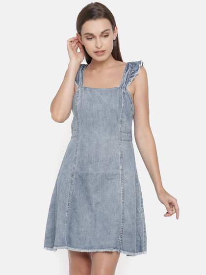 c327fa4da00 Denim Dresses - Buy Denim Dresses Online in India