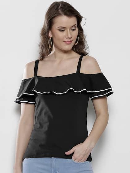 5031369ec6c53e Off Shoulder Tops - Buy Off Shoulder Tops Online in India