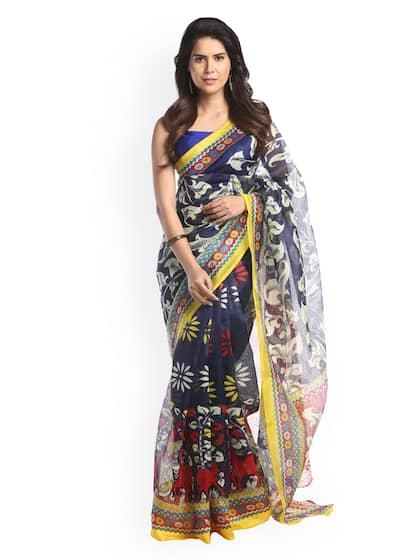 bcc1068fc6 Cotton Silk Saree - Buy Cotton Silk Sarees Online   Myntra