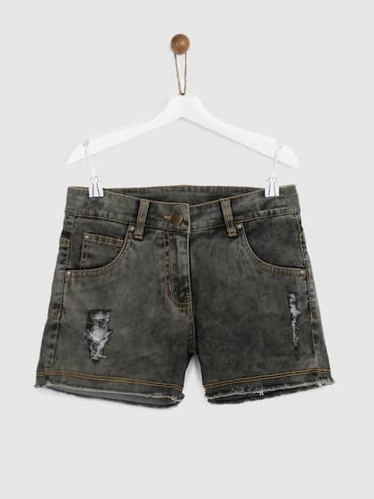 3a7313fd301 Shorts For Girls- Buy Girls Shorts online in India - Myntra