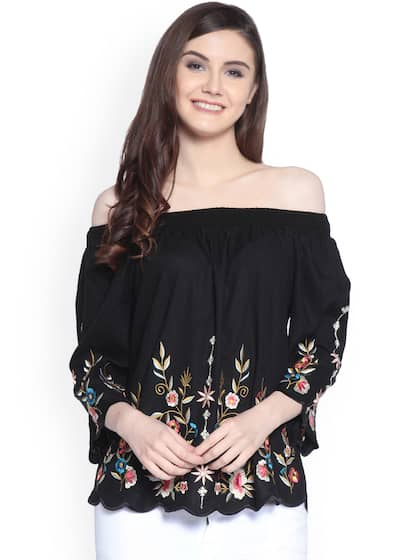 5031369ec6c53e Off Shoulder Tops - Buy Off Shoulder Tops Online in India
