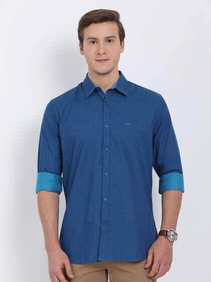 Crocodile Men Blue Slim Fit Printed Casual Shirt