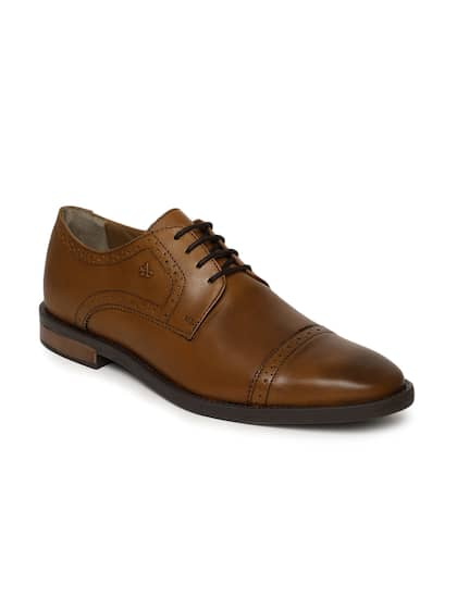 Arrow Men Tan Brown Bale Leather Brouges