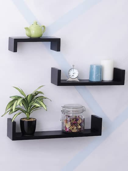 Excellent Wall Shelves Buy Wall Shelf Online In India Myntra Home Interior And Landscaping Eliaenasavecom