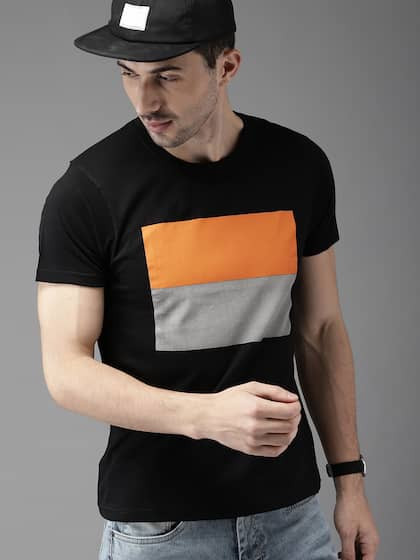 e5ec8f1c776 HERE NOW. Men Printed Round Neck T-shirt