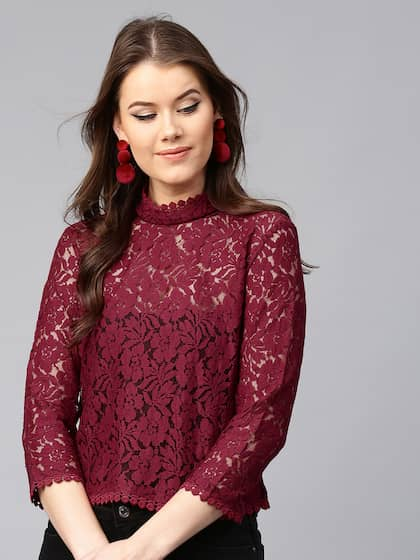 49c1d55f90a Lace Tops - Buy Lace Tops for Women & Girls Online in India | Myntra