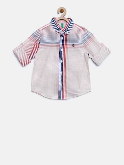 5d854013fc7c4 United Colors of Benetton. Boys Checked Casual Shirt