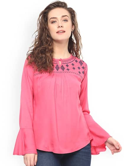d45b84352c1e82 Pink Tops - Buy Pink Tops Online in India