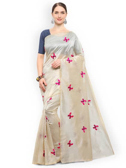 b108a24f55 Embroidered Sarees - Buy Designer Embroidery Saree Online | Myntra